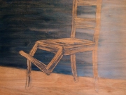 3-Title-Seated-chair-120x120-cm-Acrylic-on-wood-2007-Astrid-MG-Rubie