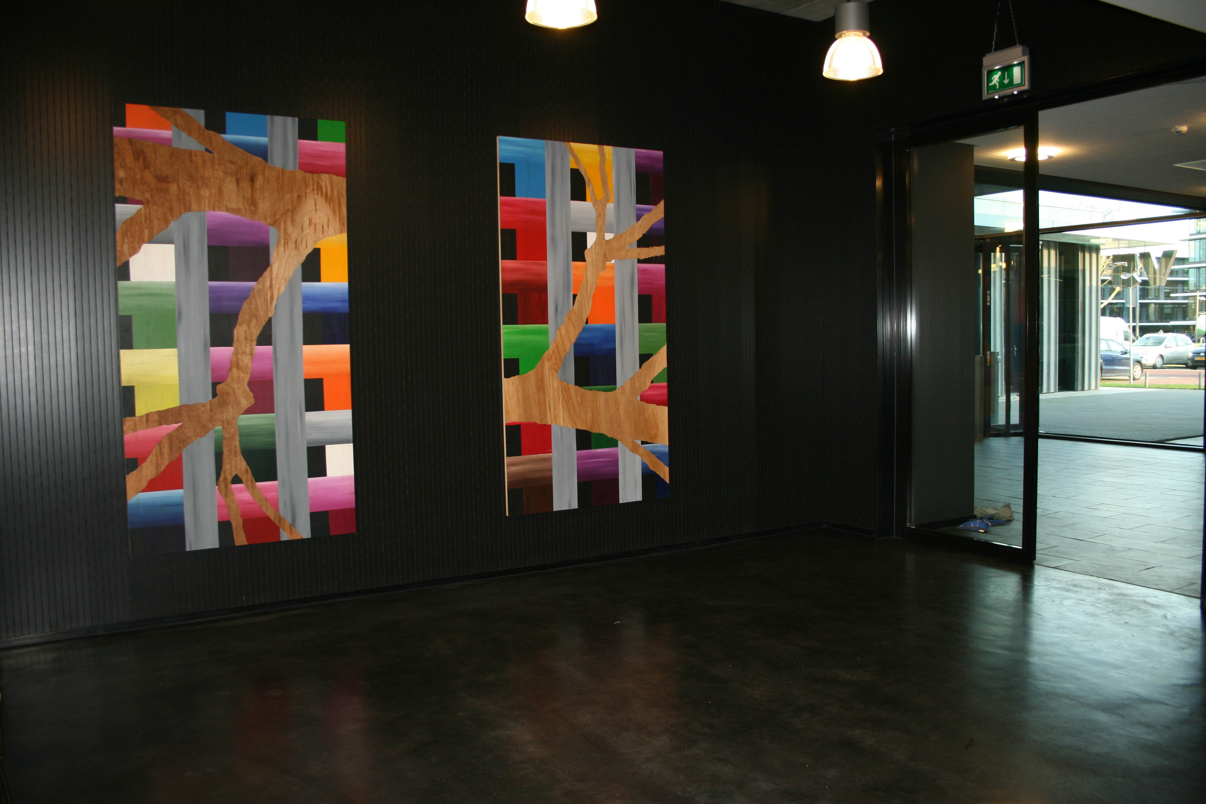 11  Ministry of Defence  Title Overvecht 9 & 10  230 x  120 cm 2x  Astrid MG Rubie